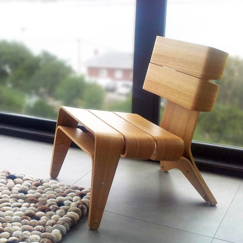 Exclusiva silla de diseño para el salón. Sillón de madera minimalista estilo escandinavo: Amazon.es: Handmade