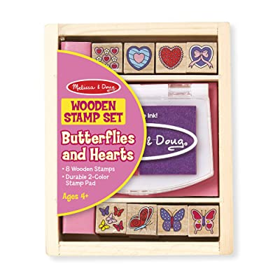 Melissa & Doug Butterfly and Hearts Stamp Set: Melissa & Doug: Toys & Games