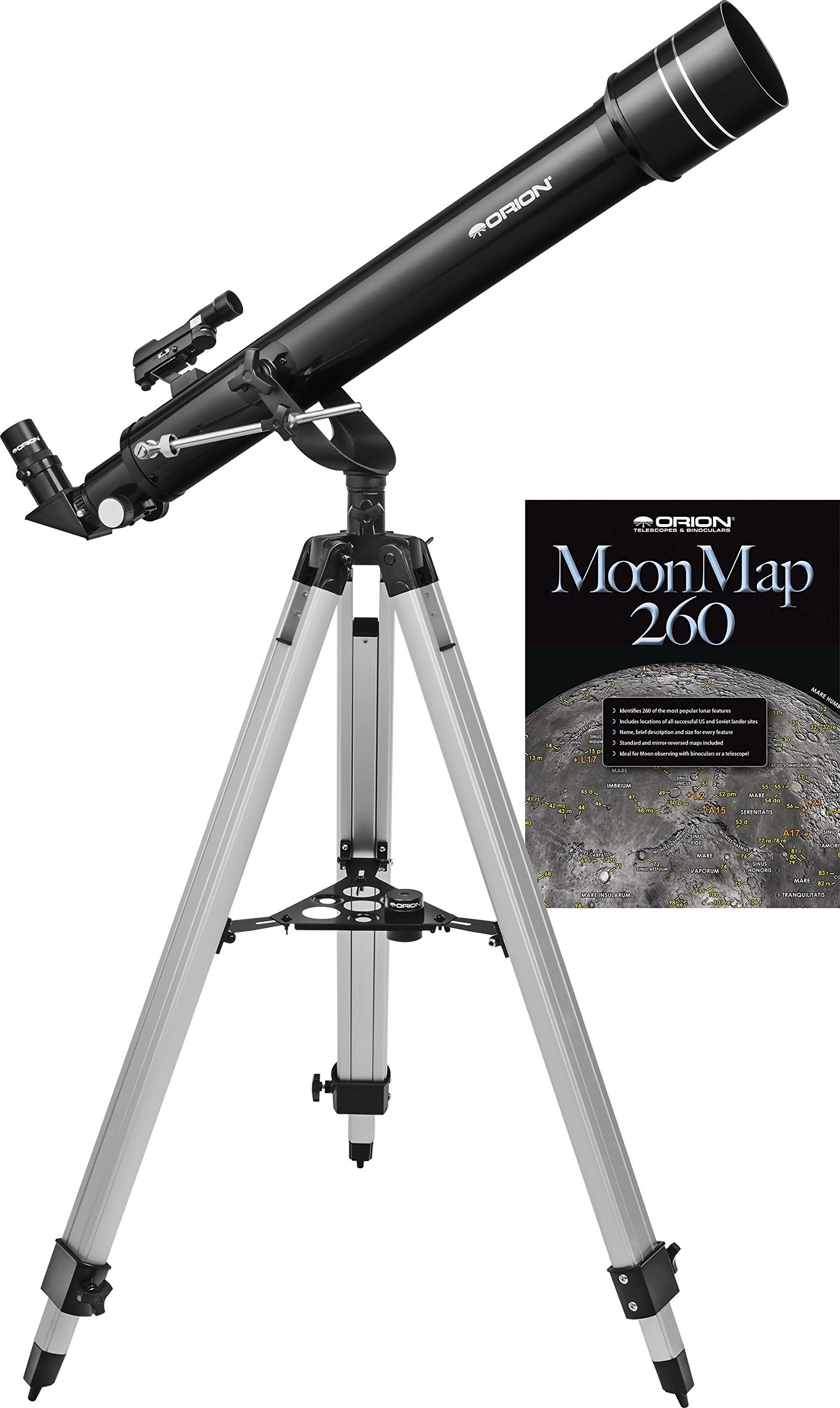 Orion Observer 70mm II AZ Refractor, Black (10275)