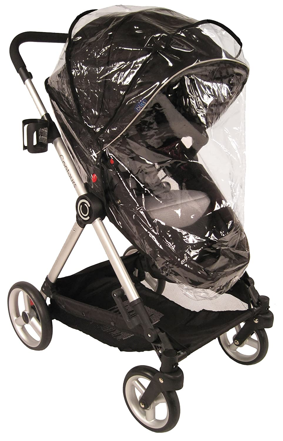 Contours Weather Shield for Contours Single and Double Strollers, Clear -Compatible with Contours Bliss, Options Elite Tandem, Options LT Tandem, Options 3-Wheel, Options Strollers, Contours Curve ZY004-BLK6