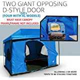 Standing Room Family Cabin Tent 8.5 FEET OF HEAD ROOM 2 or 4 Big Screen Doors Fast Easy Set Up, Full waterproof Fabric Ceiling (NOT CHEAP LEAKY SCREEN),FULL TUB STYLE Floor CANOPY FRAME NOT INCLUDED!