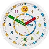 Amonev Reloj de Pared Time Teacher, enseña a los niños a Leer y Decir la