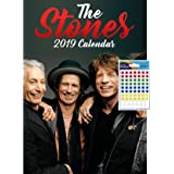 iPosters Bundle - 2 Items - Rolling Stones 2019 Wall Calendar - Closed Size : 42 x 29.5 cm (16.5 x 11.5 Inches) and a Sheet of 70 Multi Colour Self Adhesive Dot Stickers