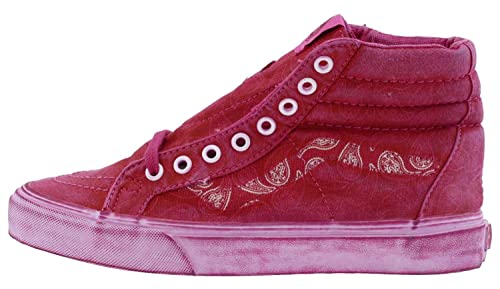 886c872ab0 Vans SK8-HI Reissue + Mens Size 10 Overwash Paisley Red Canvas Skateboarding  Shoes (