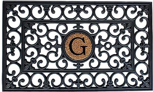 Calloway Mills 150011830G Rubber Monogram Doormat, 18 x 30 Letter G