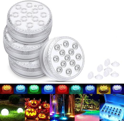 Magicfun Unterwasser Licht, Wasserdichtes LED Licht, RGB 13 mehrfarbige LED mit RF-Fernbedienung , Timer, Poollampe für Swimmingpool, SPA,...