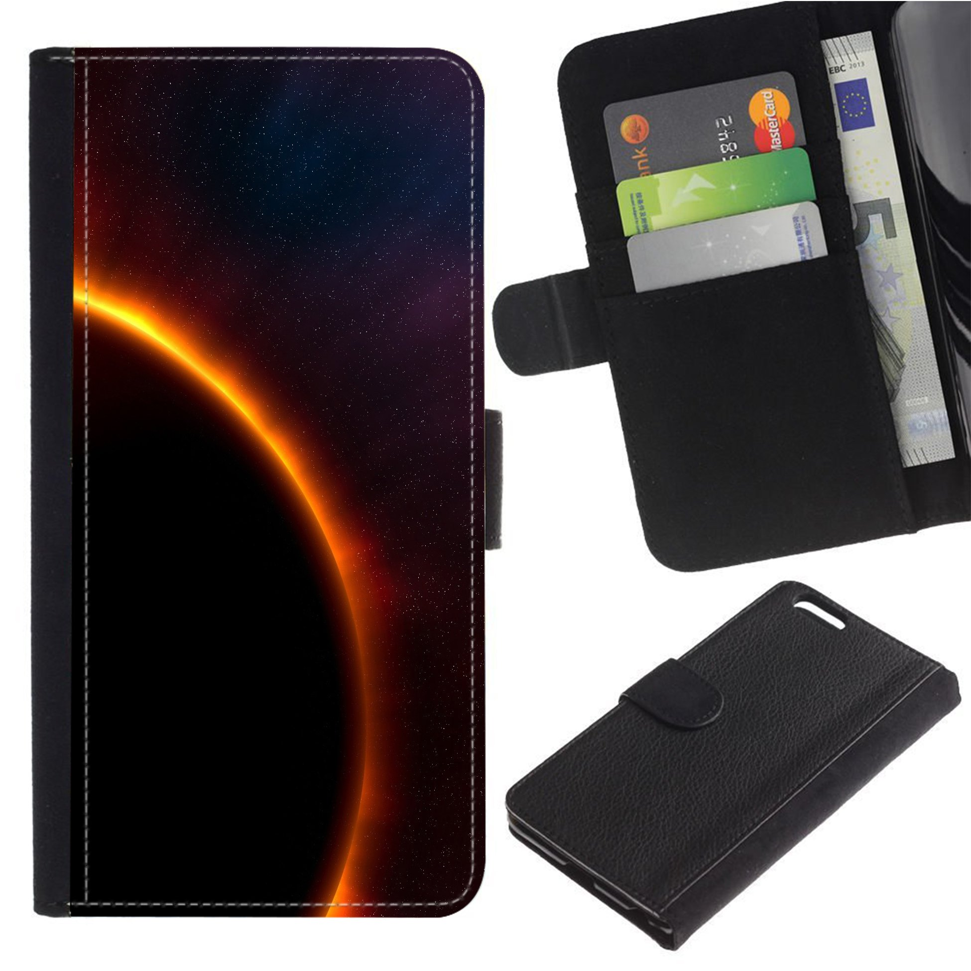 [Solar Eclipse] For SAMSUNG Galaxy S3 III/i9300/i747 Flip Leather Wallet Holsters Pouch Skin Case