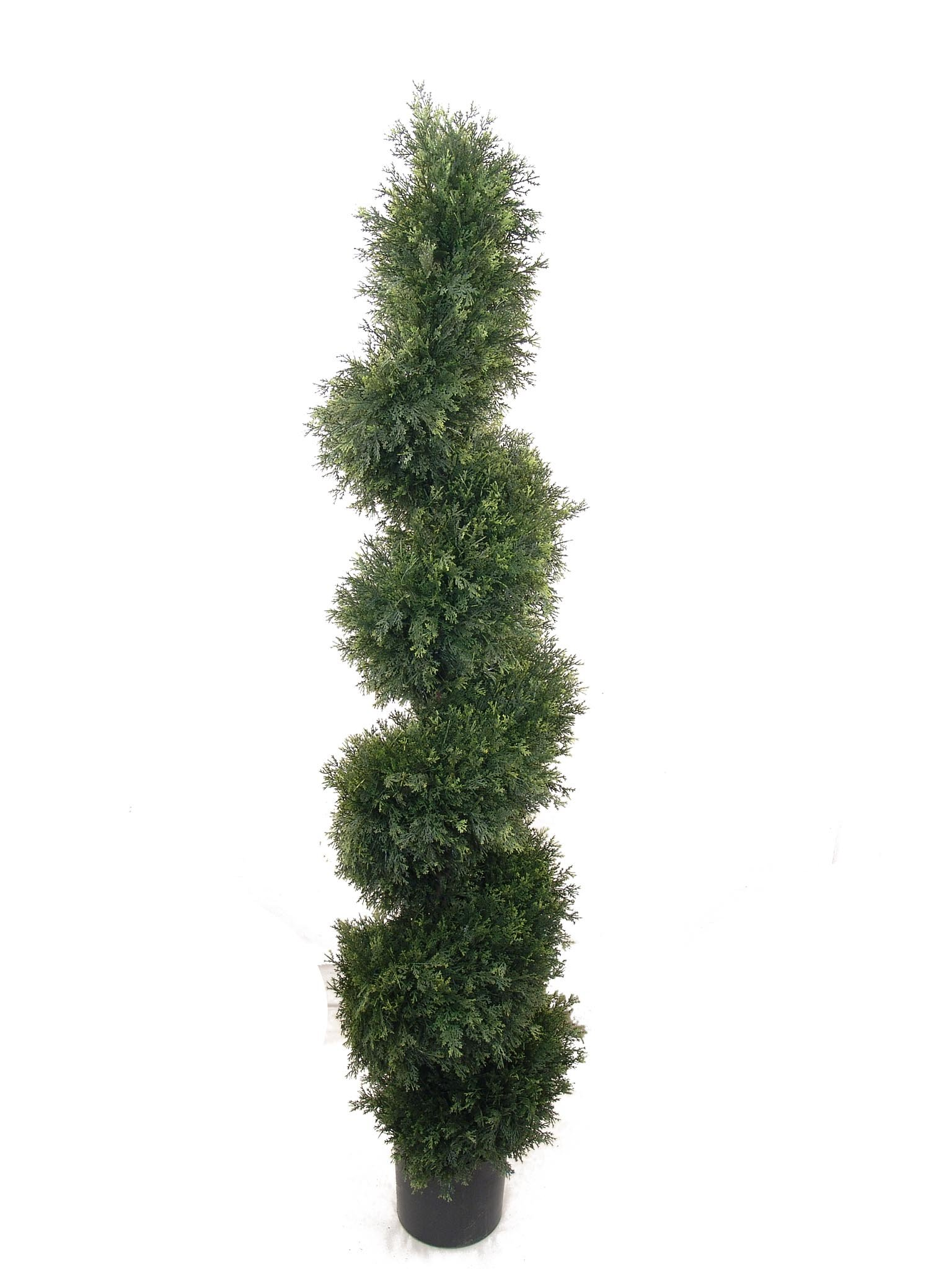 Larksilk 5' Cedar Topiary Artificial Spiral Tree Plant - Outdoor Topiary Trees Artificial Plants for Home Decor Indoor and Outdoors by Larksilk (Image #1)