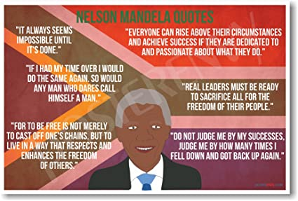 Amazoncom Nelson Mandela Quotes New Famous Person Civil Rights