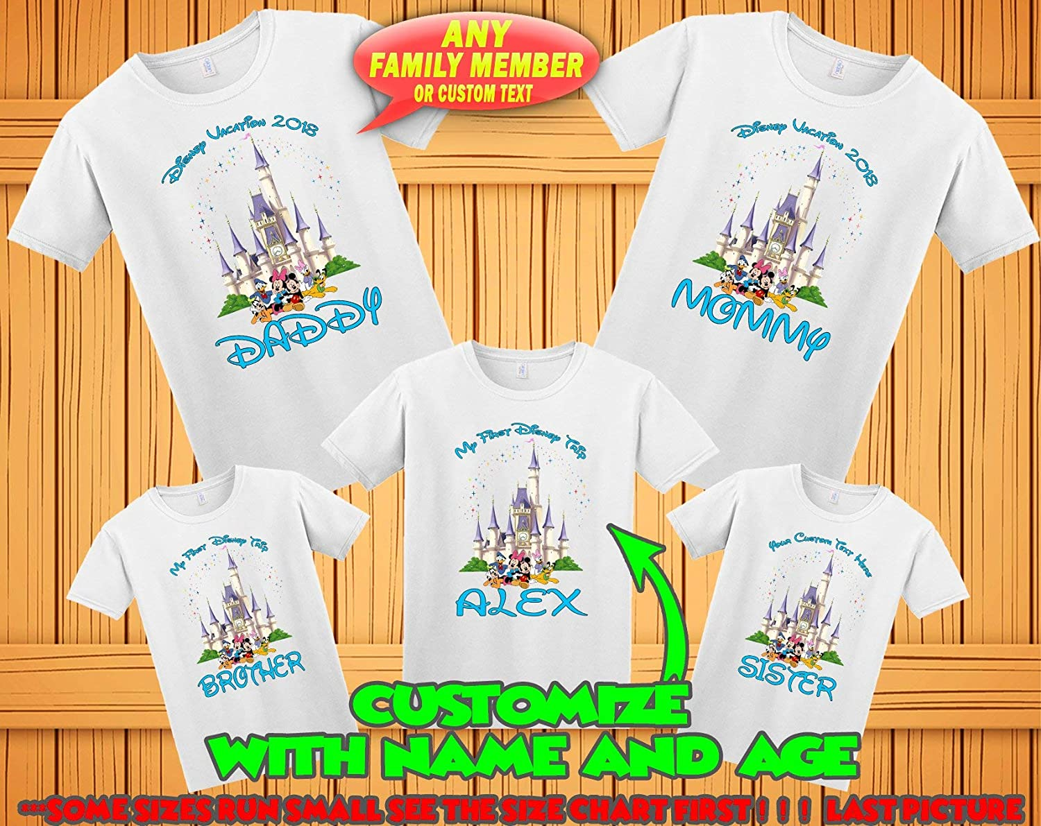13c6d8c95 ... custom Personalized Disney World family matching custom t-shirts, Family  vacation disney shirts, custom Personalized ...