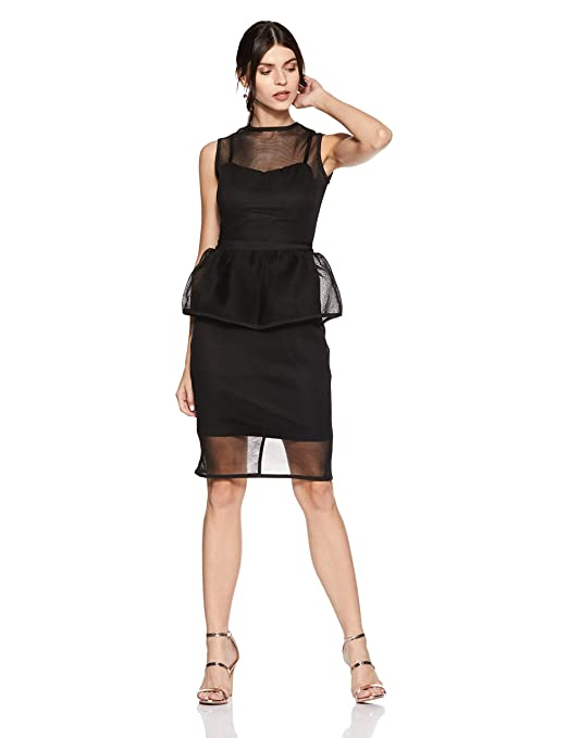 bYSI Women's Peplum Dress Dresses at amazon