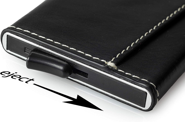 SALIENCE - Tarjetero de piel auténtica con protector RFID: Amazon.es: Equipaje