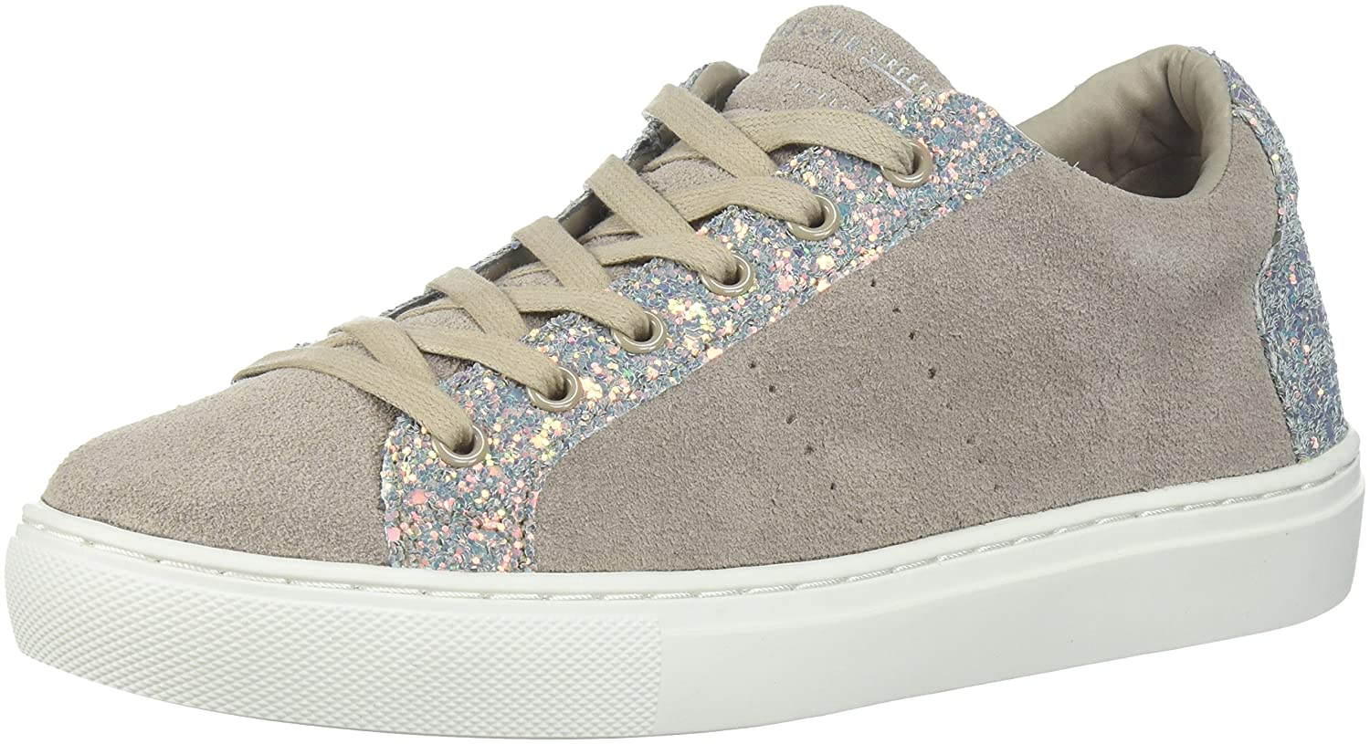 Skechers Women's Side Street-Glitter Star Cut Out Sneaker B0742RXFSM 8.5 B(M) US|Taupe