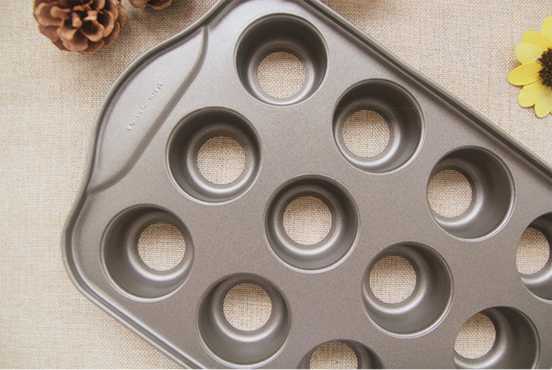 Tosnail 2 Pack 12 Cavity Mini Cheesecake Pan with Removable Bottom by Tosnail (Image #2)