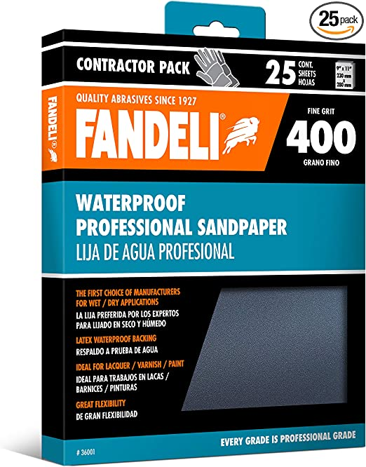 "9/"" x 11/"" Assorted Sandpaper Sanding Sheets 25 Sheets"