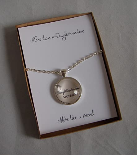 Daughter In Law Pendant Or Key Ring Gift Card Personalised Birthday Present