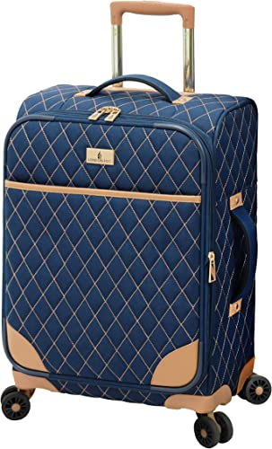 London Fog Queensbury 20 Spinner Carry-On, Navy, 20 Inch