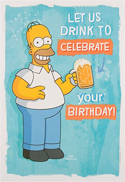 Hallmark 25488977 Simpsons Carte D Anniversaire Homer Medium Amazon Fr Fournitures De Bureau