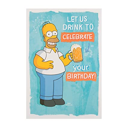 Simpsons Birthday Hallmark New Humour Funny Card Homer