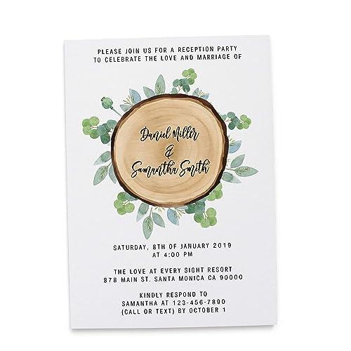 amazon com wooden wedding reception invitation cards marriage