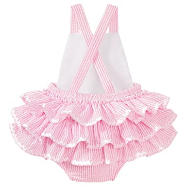 23f6b8e8b Amazon.com: Mud Pie Baby Girls Pink Seersucker Bubble: Clothing