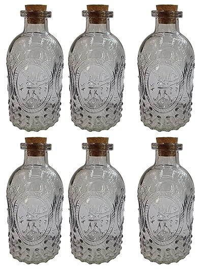 Botiquín Decorar Botella Cristal Botella Botella de Licor farmacia Cristal Vintage Cristal, vidrio, azul