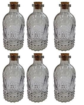 Botiquín Decorar Botella Cristal Botella Botella de Licor farmacia Cristal Vintage Cristal, vidrio, azul, 3 unidades: Amazon.es: Hogar
