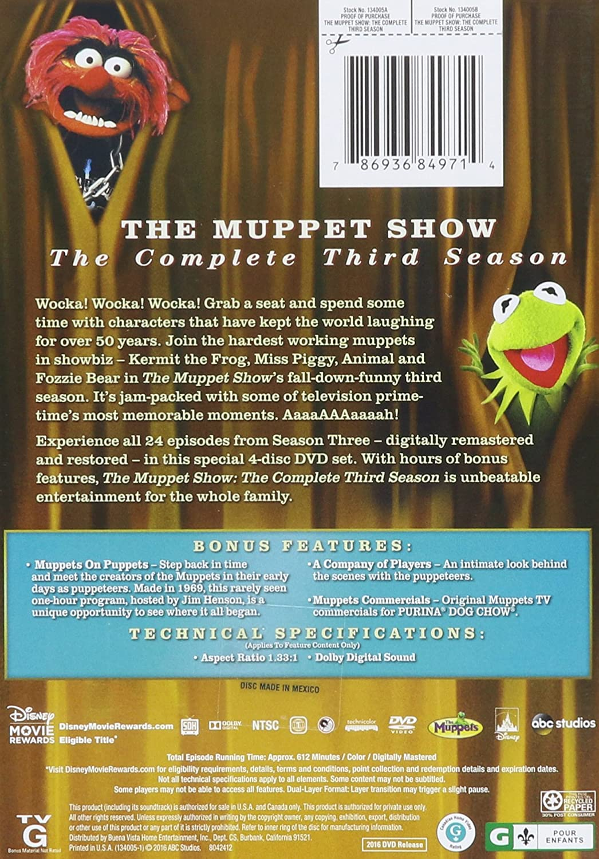 Amazon com: The Muppet Show: Season 3: Jim Henson, Frank Oz