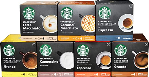 Starbucks Nescafé Dolce Gusto Juego de cápsulas de café (7 x 12 ...