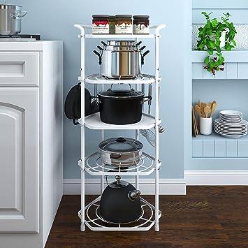 Lifewit Estantería Organizador 5 Niveles Ajustable Con Ganchos,Para Cocina, Dormitorio,Salón,
