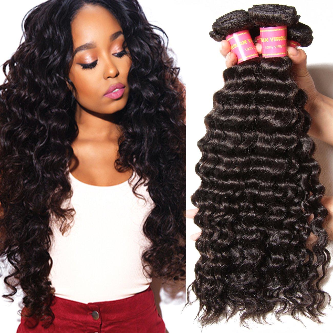 Amazon Beauty Forever Virgin Brazilian Deep Wave Human Hair