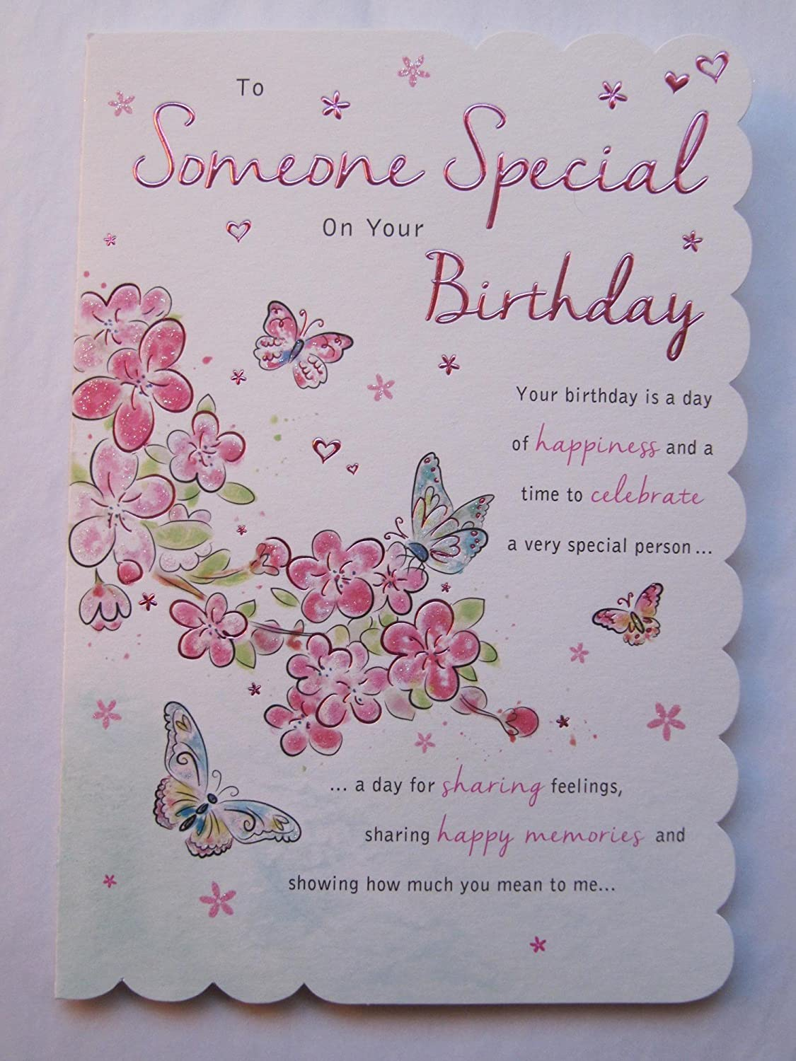 STUNNING TOP RANGE WONDERFUL WORDS 3VERSE SOMEONE SPECIAL BIRTHDAY GREETING  CARD