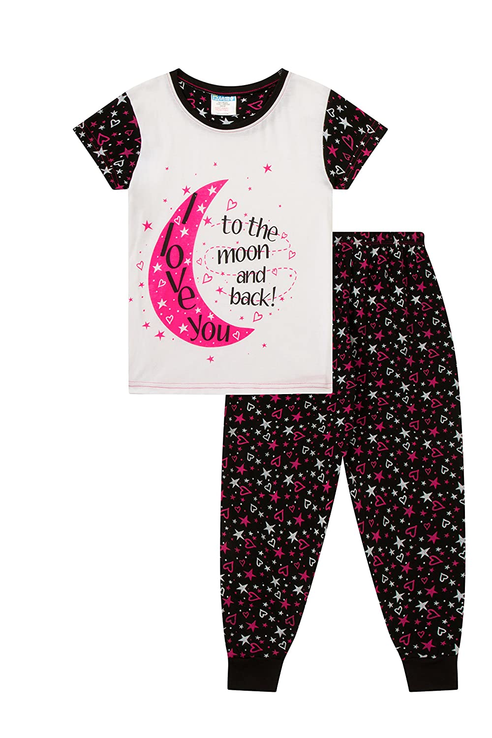 2dfea6012d I Love You to The Moon and Back Girls Pyjamas 6 to 13 Years