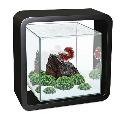 CIANO Acuario cúbico para Peces con el Marco de Madera Betta Life pecera de diseño 5
