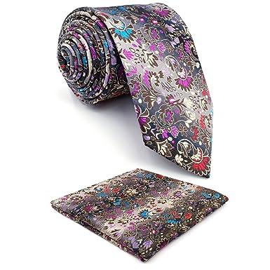 Shlax&Wing Clásico Hombre Seda Corbatas Para Plateado Multicolor ...
