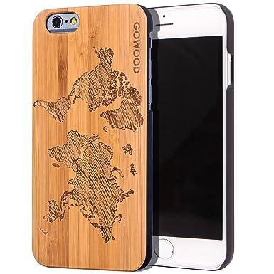 GOWOOD - Carcasa para iPhone 6 y 6S (Madera de bambú, Madera ...