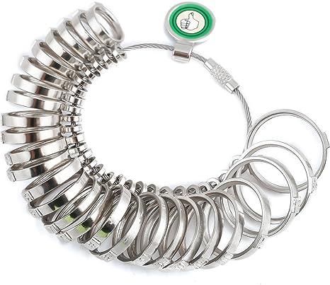 Ringgrößenmesser Ringstock Ringmaß Finger Ring Größen Dorn Gauge Schmuck DE NEU