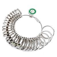 LIHAO Calibro Anelli Misura US-Standard in Metallo Misura dito Uomo / Donna