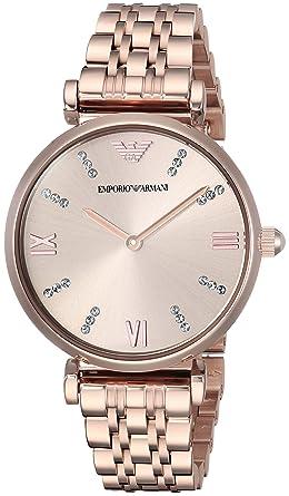 8c2e06e0d958 Emporio Armani Damen-Armbanduhr 32mm Armband Edelstahl + Gehäuse Quarz  AR11059