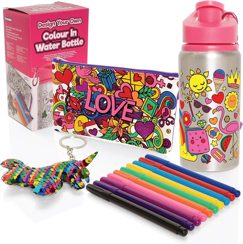 Style Girlz - Kit de coloración para Botella de Agua y portalápices para niñas - Kit de coloración DIY para niños