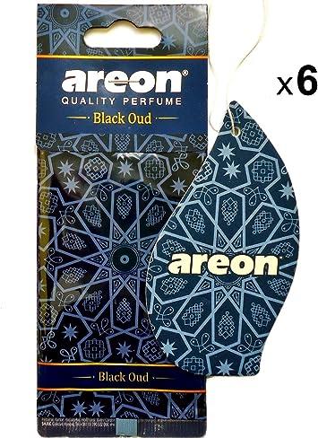 Areon Orient Lufterfrischer Auto Schwarzer Oud Duft Autoduft Orientalisch Anhänger Hängend Aufhängen Spiegel Pappe 2d Wohnung Set Black Oud Pack X 6 Auto
