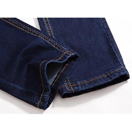 d935517e7189 ... FREDD MARSHALL Boy's Blue Skinny Fit Stretch Slim Elastic Waist Denim  Jeans Pants For Kids ...