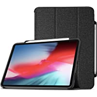 ProCase iPad Pro 12.9 Case 2018 with Apple Pencil Holder [Support Apple Pencil Charging], Protective Smart Cover Shell Stand Folio Case for Apple iPad Pro 12.9 Inch 3rd Gen 2018 Release –Black