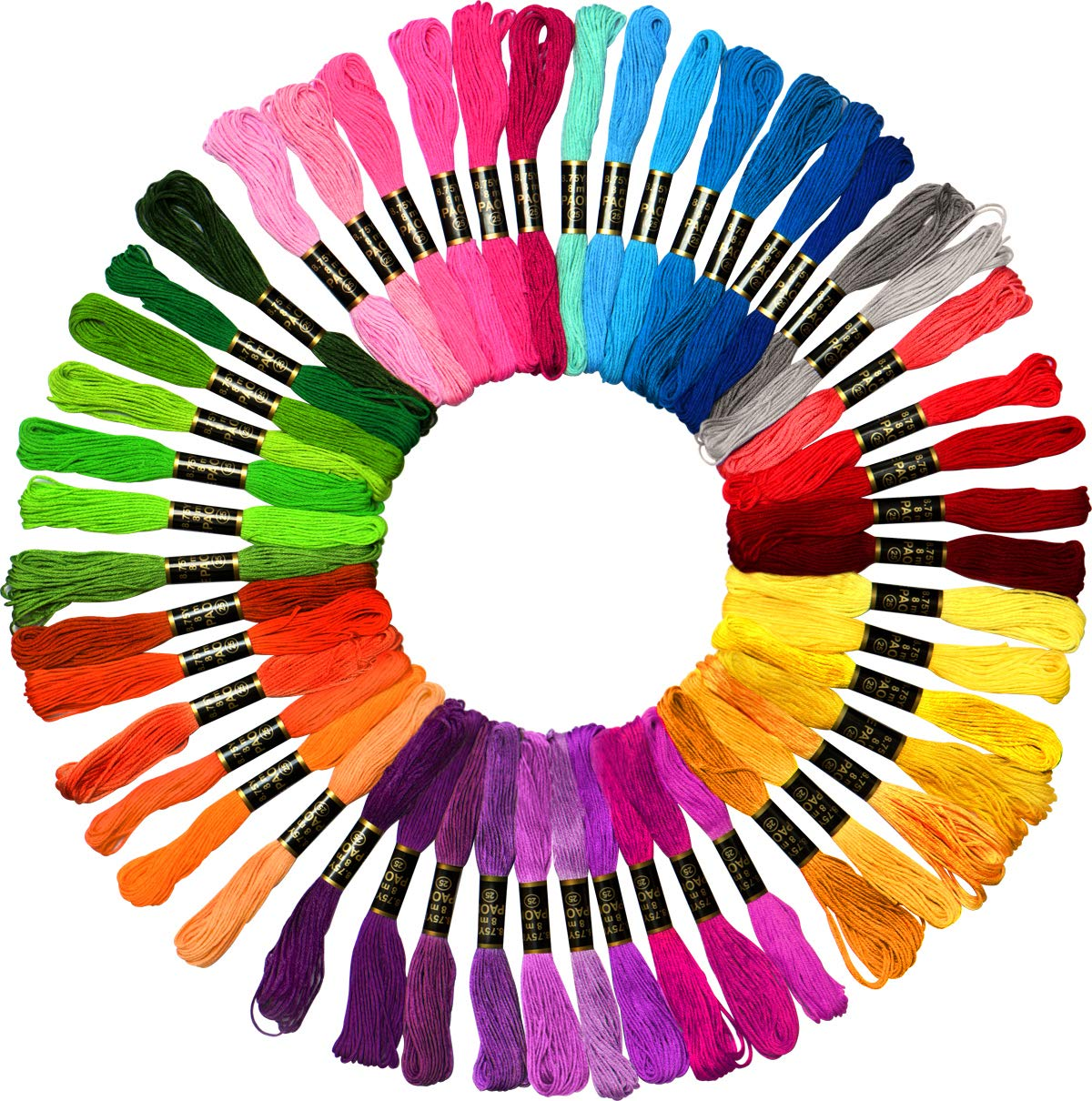 50 Skeins Embroidery Floss Mega Pack Embroidery Thread Approx 8m