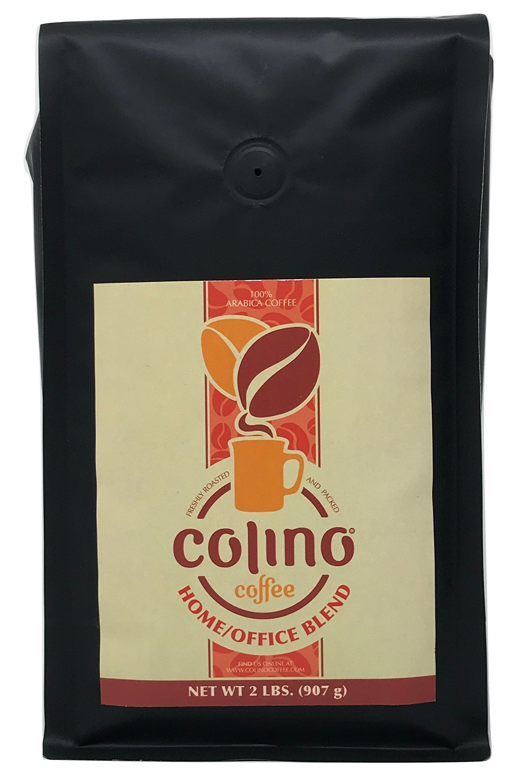 Exceptional Gourmet Home/Office Artisan Specialty Ground Blend Coffee, Dark Roast Bag, Colino Coffee. (2 Pound)