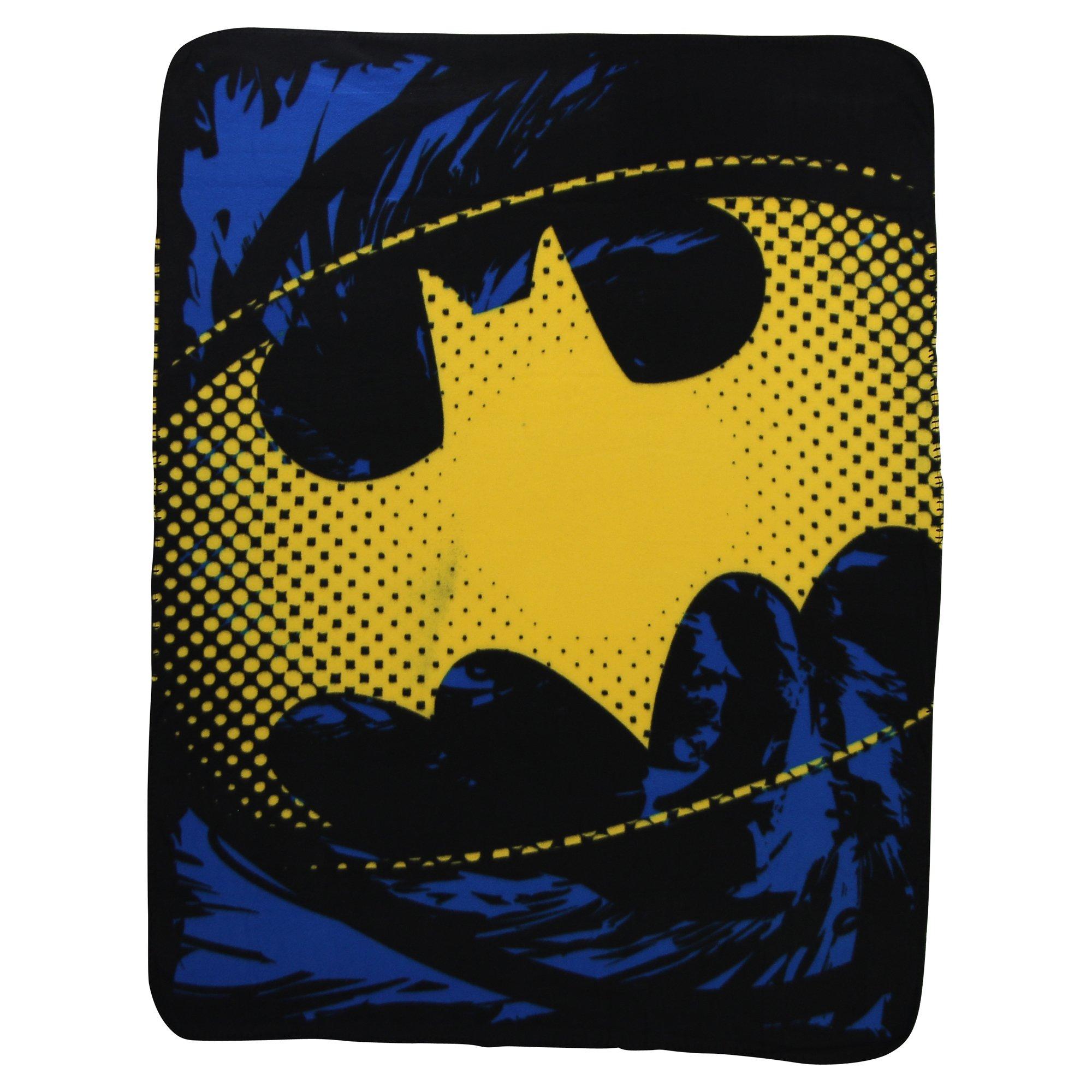 The Northwest Company Batman Ripped Shield Fleece Blanket, 45 x 60-inches