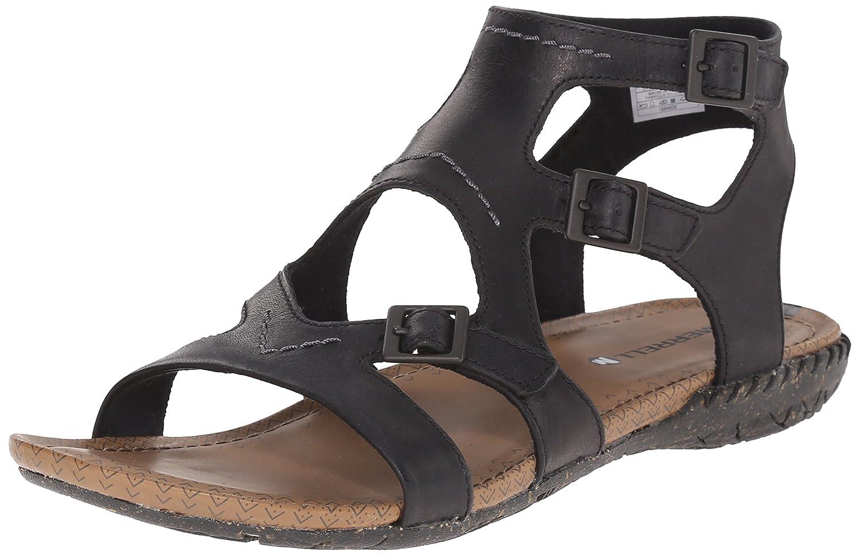 Merrell Women's Whisper Buckle Gladiator Sandal B00YDKVW5A 5 B(M) US|Black