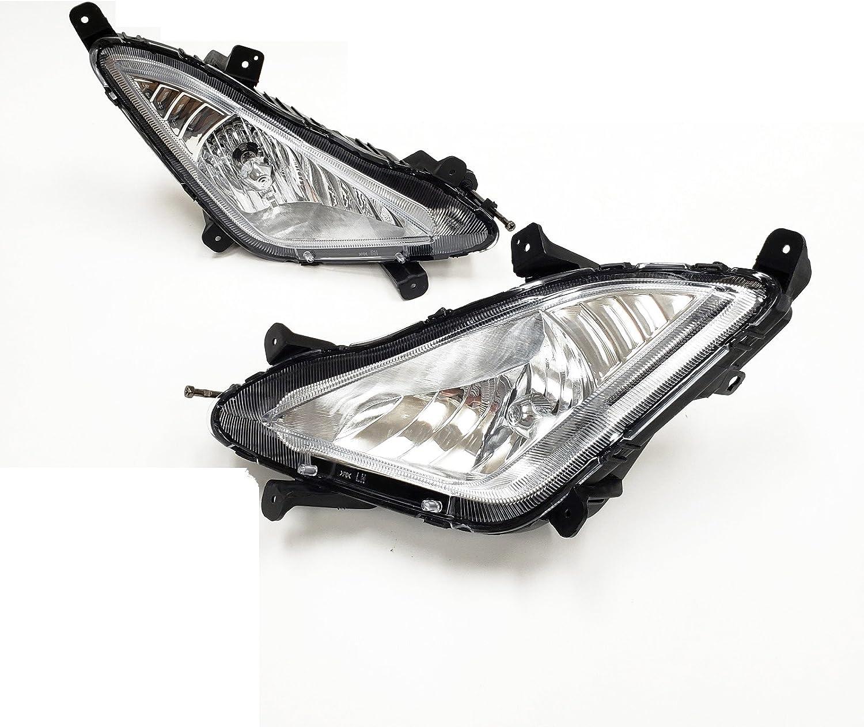 Bracket For 2014 2015 2016 Hyundai Elantra Bumper Driving Fog Light W//Switch Bulbs