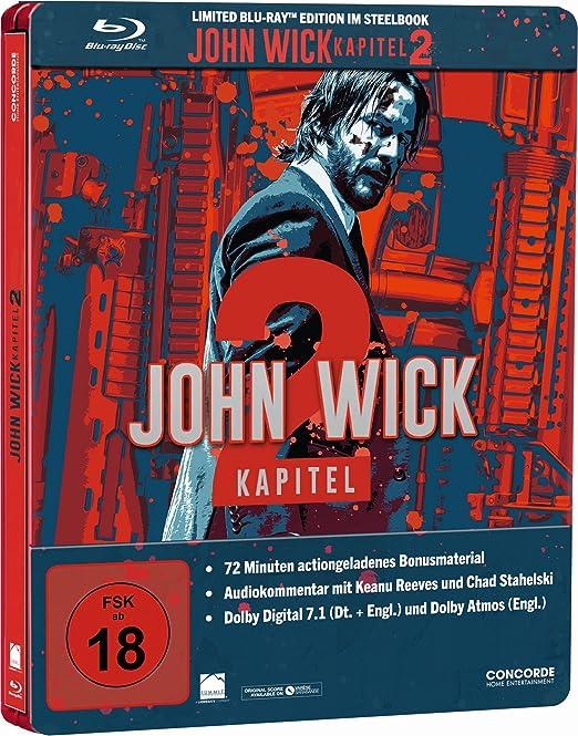 Amazon Com John Wick Kapitel 2 Steelbook Blu Ray Movies Tv