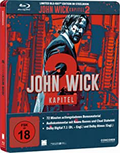 John Wick 2 Limited Edition Steelbook / Import / Blu Ray